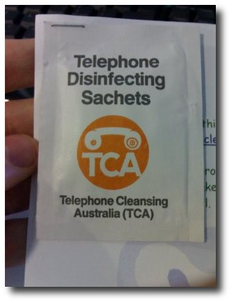 Telephone Disinfectant, front